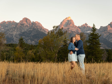 Grand Tetons Engagement Session : G + D