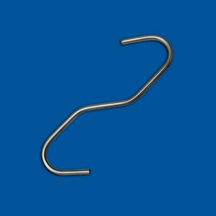 Bøyd ledningsdel, rustfritt ståltråd, variant 6