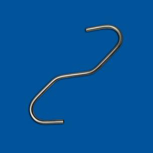 Bent wire part as a squat S-hook