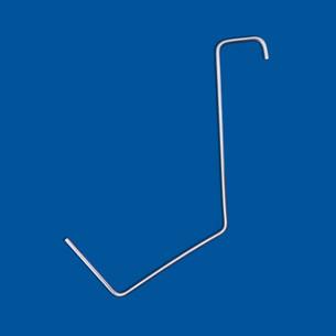 Wire bending part in wide hook shape
