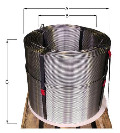 Aufmachung Coil auf Palette _ AGST Draht