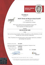 ISO certificate AGST