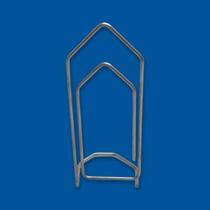 Büroklammer zum Aufstellen, gefertigt aus Edelstahldraht in der Produktion von AGST
