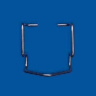 Parte in filo piegato, filo in acciaio inossidabile, variante 1
