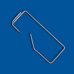 Wire bending part in rectangular shape with turned and angled end