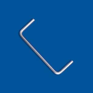 Drahtbiegeteil in Form eines offenes Rechtecks, z.B. geeignet als Griff
