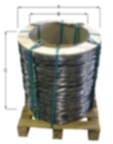 Aufmachung Core auf Palette mit Pappkern