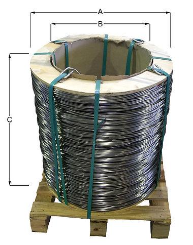 Core auf Palette mit Pappkern aus dem Lieferprogramm von AGST