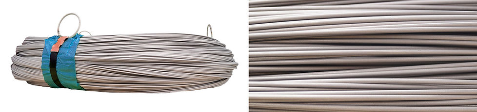 Stainless steel spring wire close-up