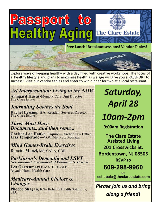 Passport to Healthy Aging at The Clare Estate