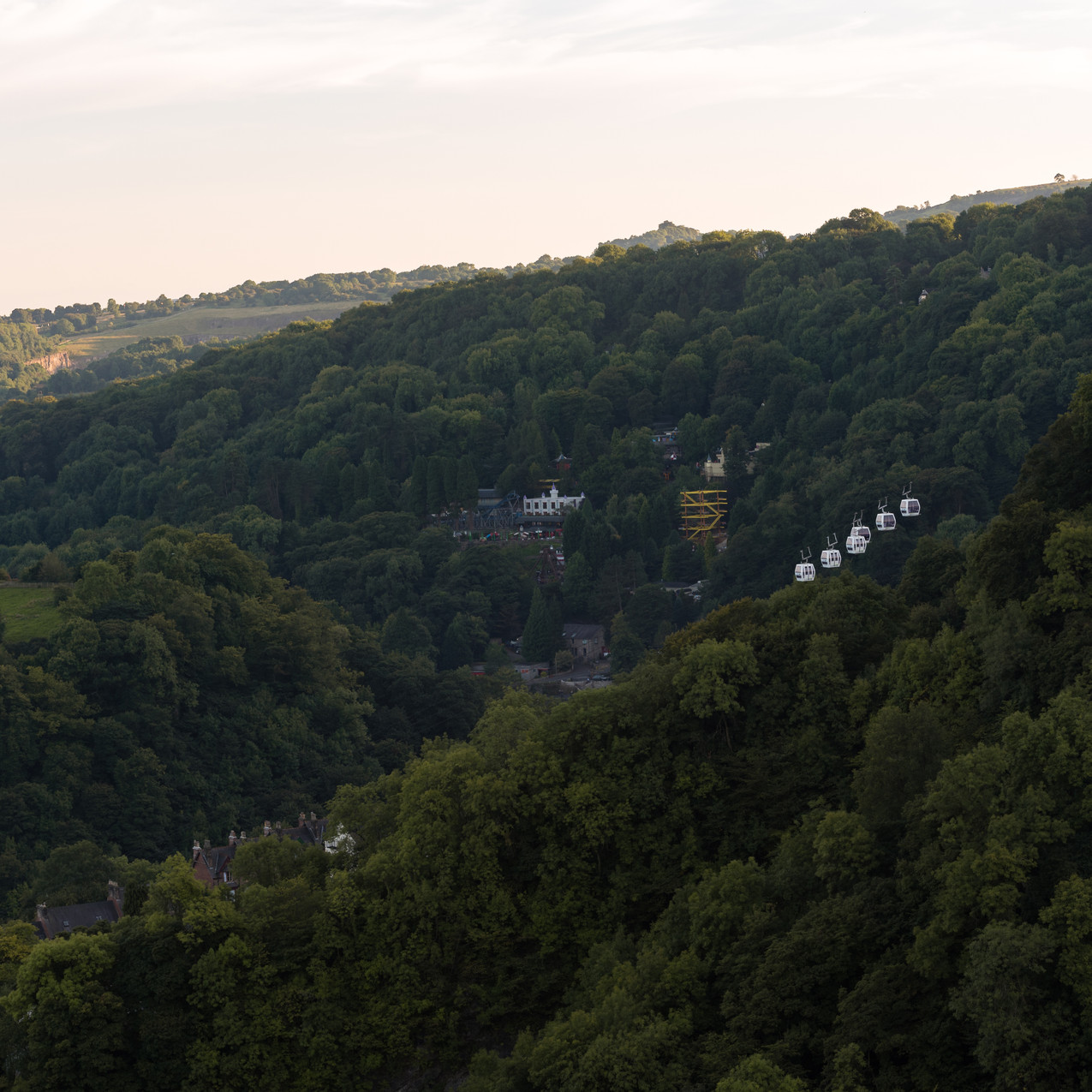 Cable cars at High Tor