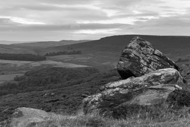 A very overcast evening at Carhead Rocks