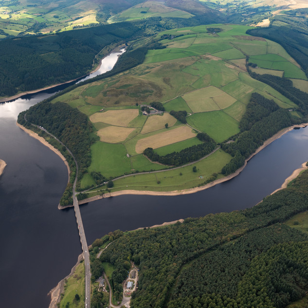 Aerial view of Ladybower Reservoir