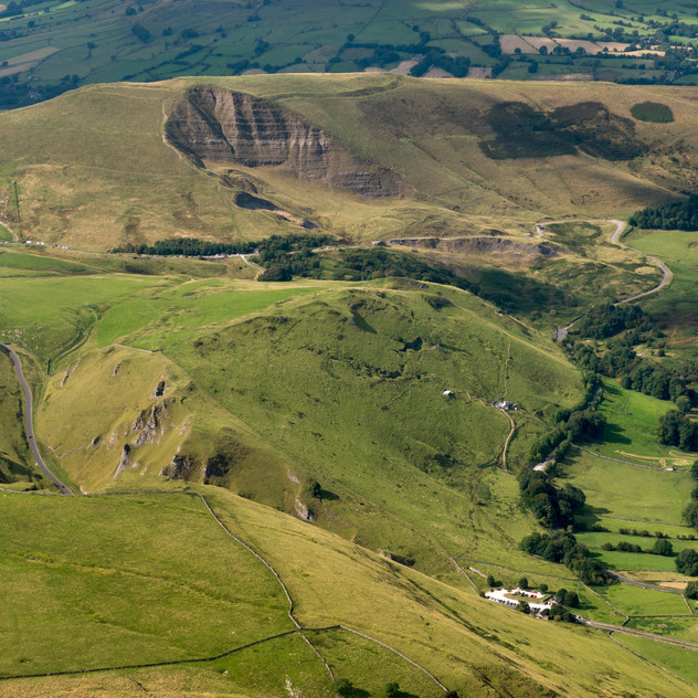 Aerial view of Winnats Pass