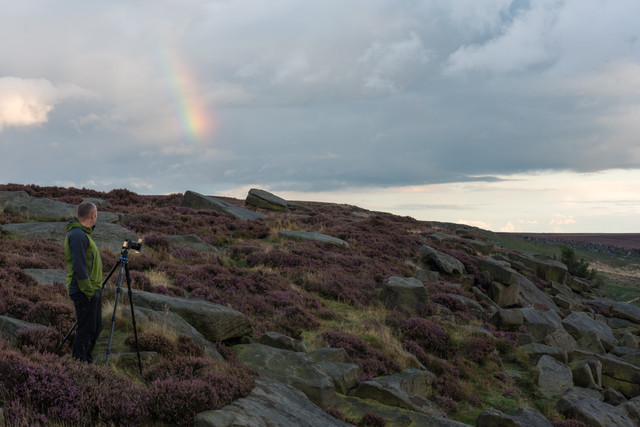Sunset at Burbage rocks