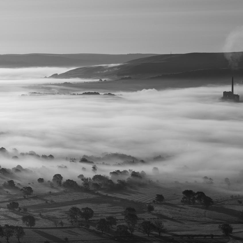 Blanket of mist over Castleton