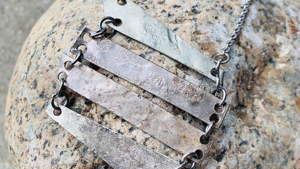 Primitive silverplated neckace