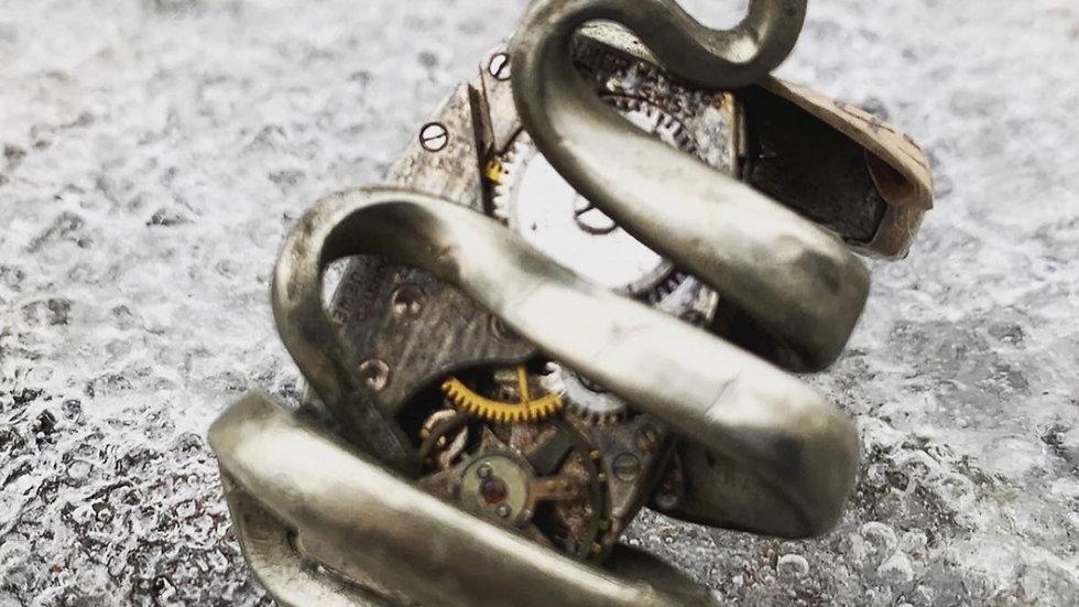 Pocket watch fork ring