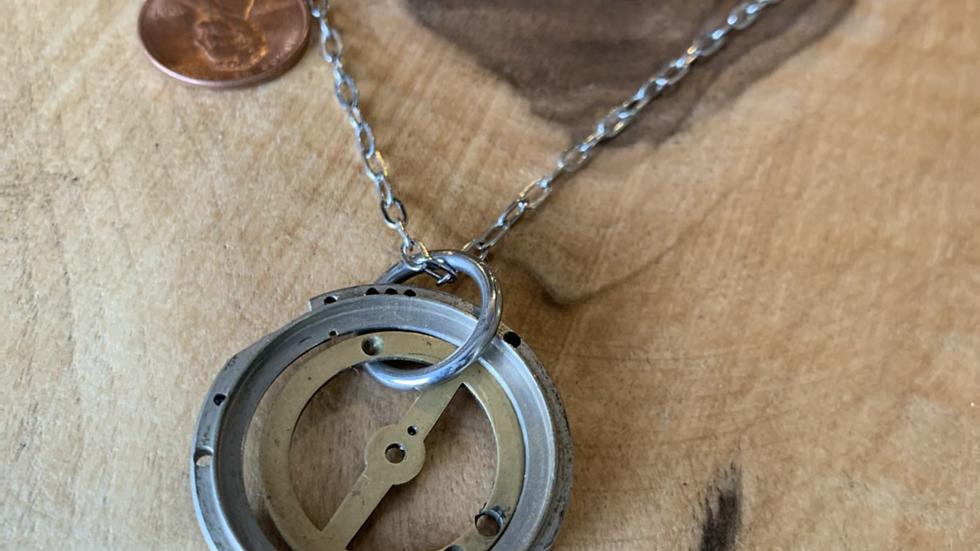 Watch gear necklace