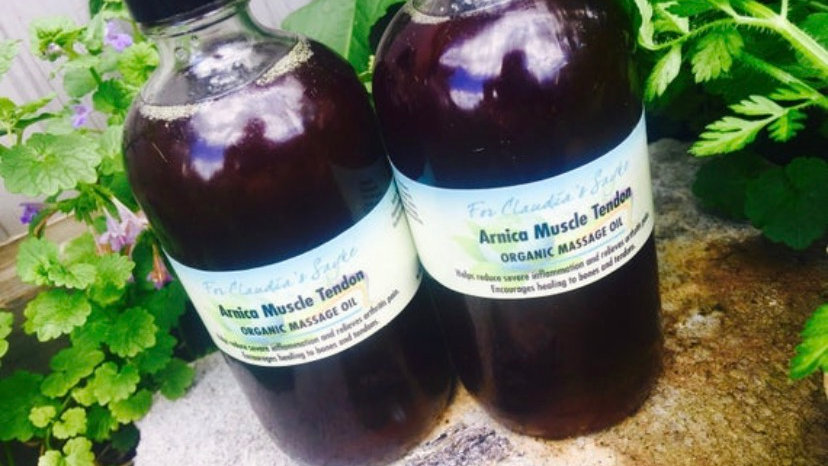 Arnica muscle tendon massage oil