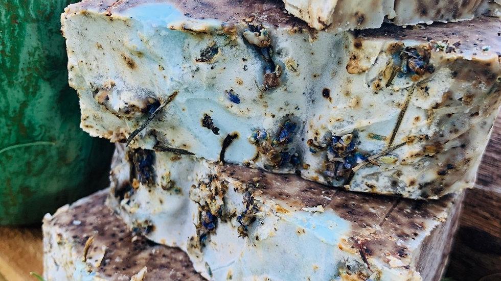 Lavender coffee soap