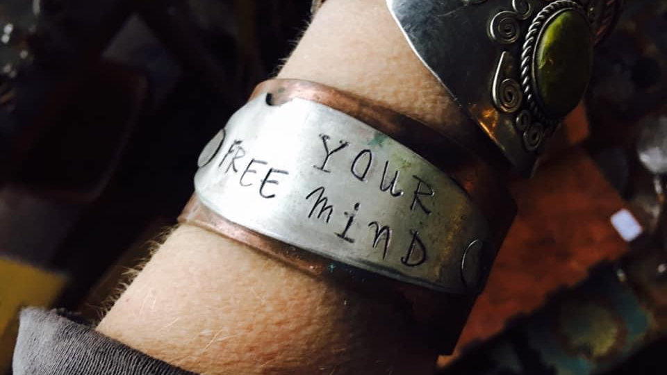 Free your mind copper cuff