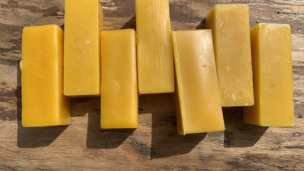 2 oz brick pure beeswax