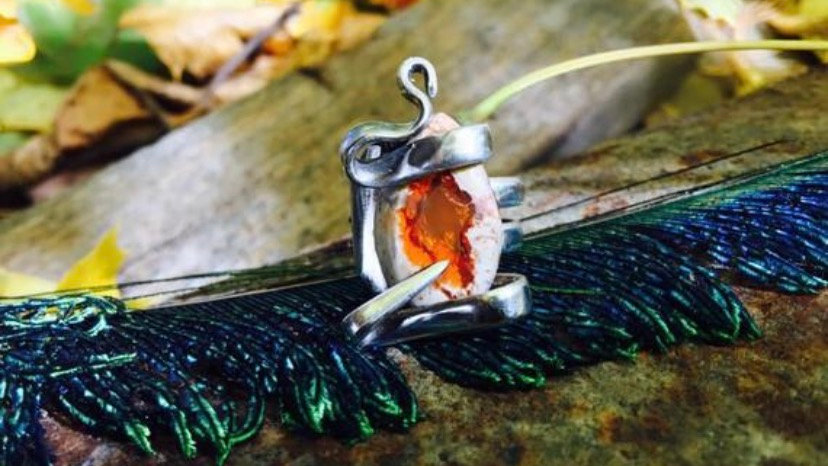 Mexican Fire opal ring