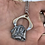 Thumbnail: Steampunk mountain scape necklace
