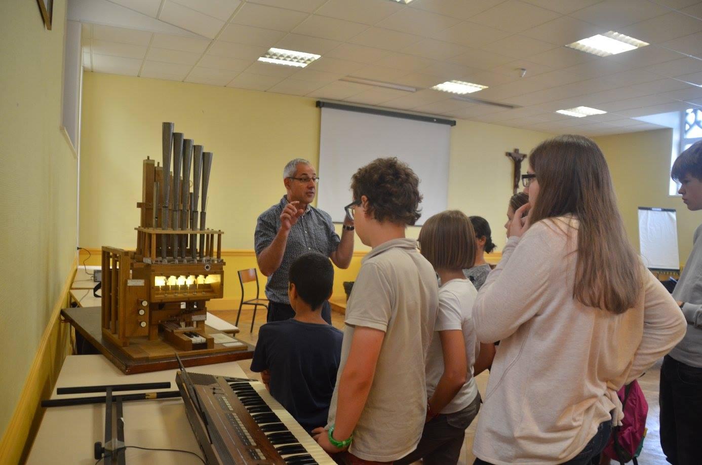 La maquette d'un orgue