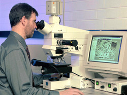 Andy Gleadow in fission track lab circa 1999