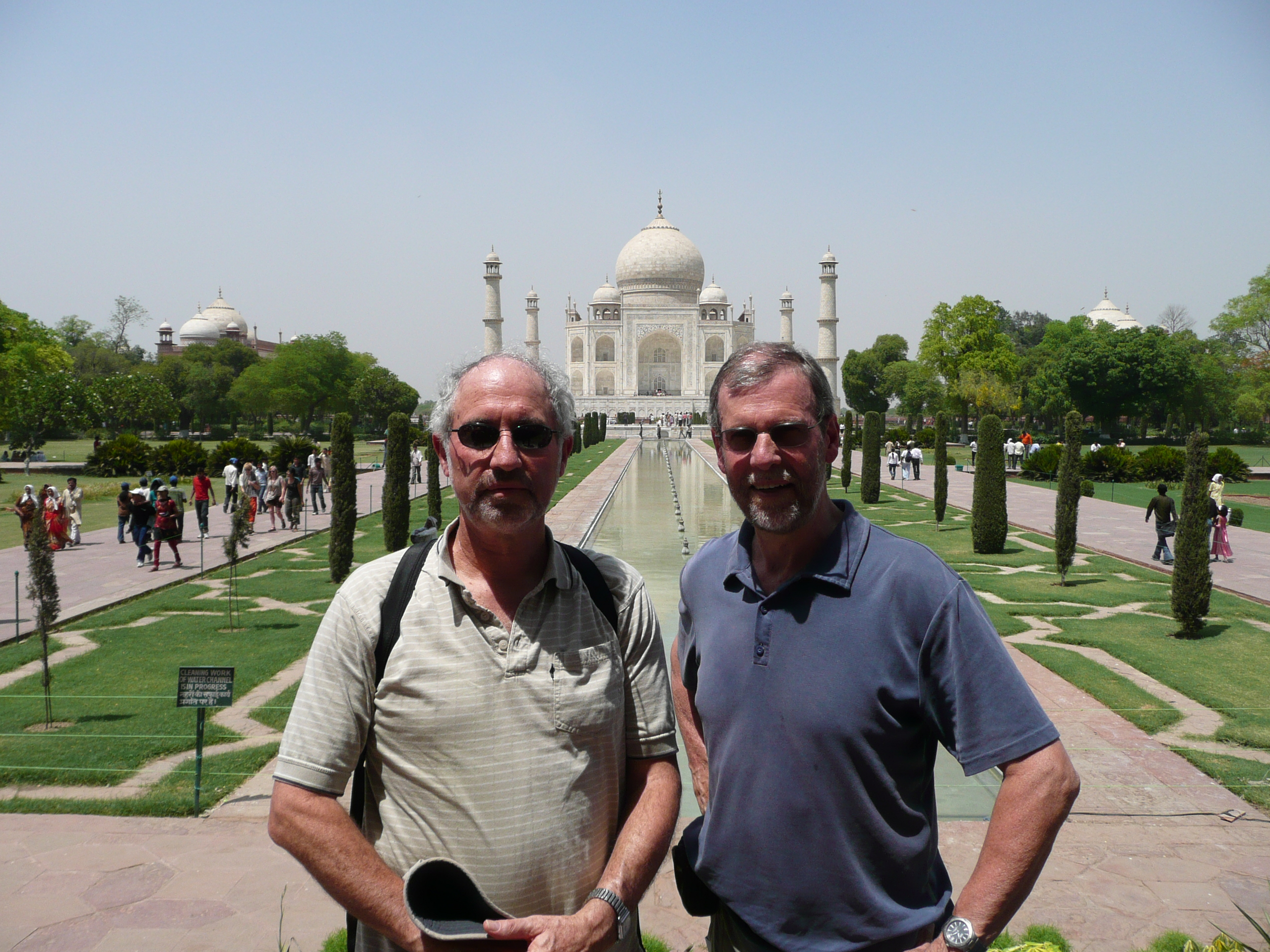 Prof Barry Kohn and Prof Andy Gleadow at the Taj Mahal, 2010