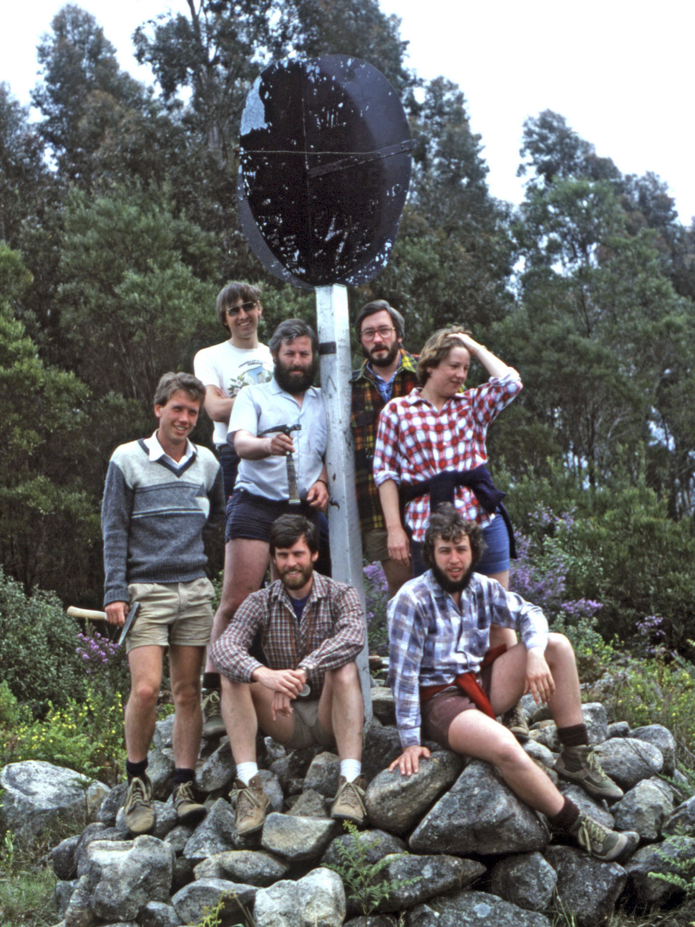 Research group atop Mt Dromedary 1983
