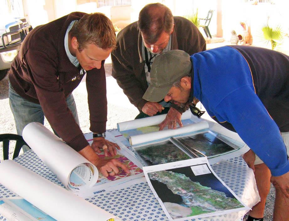 Field preparations Bahia de los Angeles, Mexico. Dr Christian Seiler, Prof Andrew Gleadow and Ramon