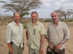 Dave Foster (U Florida), Andy Gleadow and Barry Kohn in Turkana, Kenya 2013