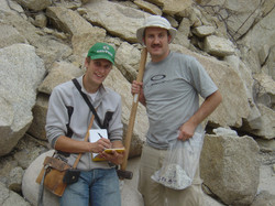 Dr Christian Seiler and Dr Fabian Kohlmann (Lithodat) in the field in Mexico