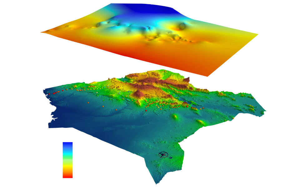 Regional- to continental scale thermo-tectonic imaging