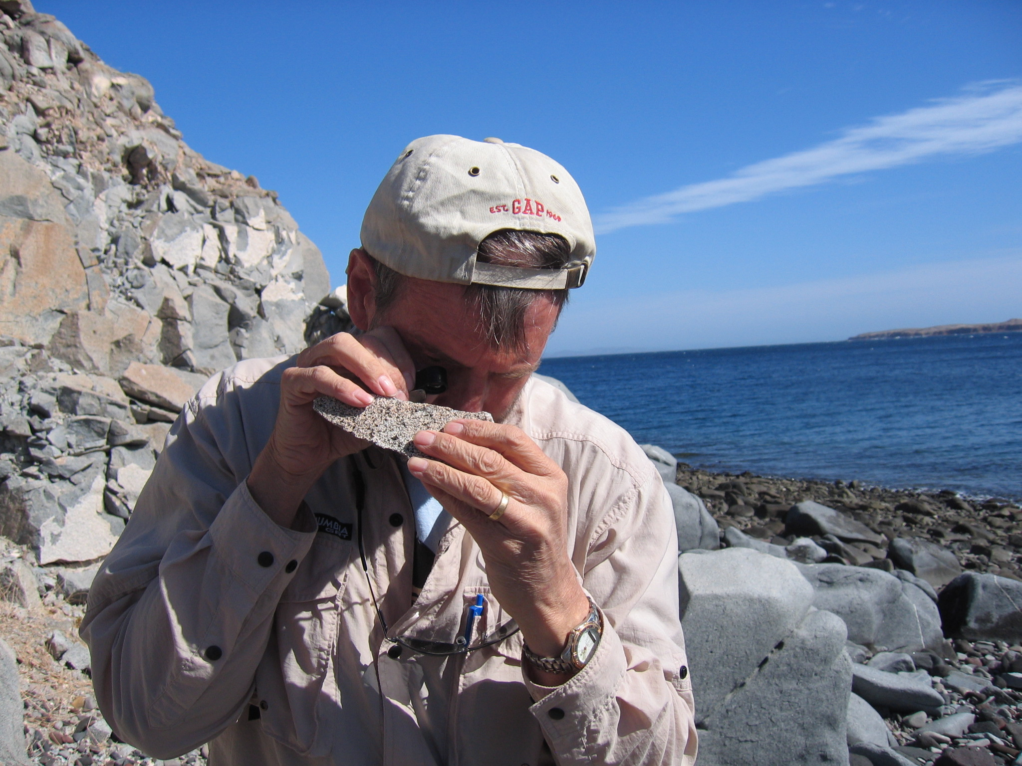 Prof Andy Gleadow, Bahia de Los Angeles, Mexico 2006