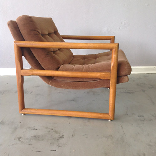 Milo Baughman Attributed Scoop Chair