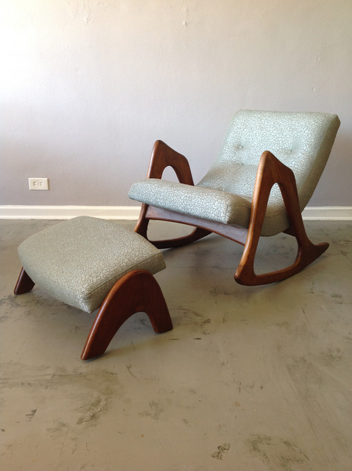 Adrian Pearsall Rocking Chair Ottoman