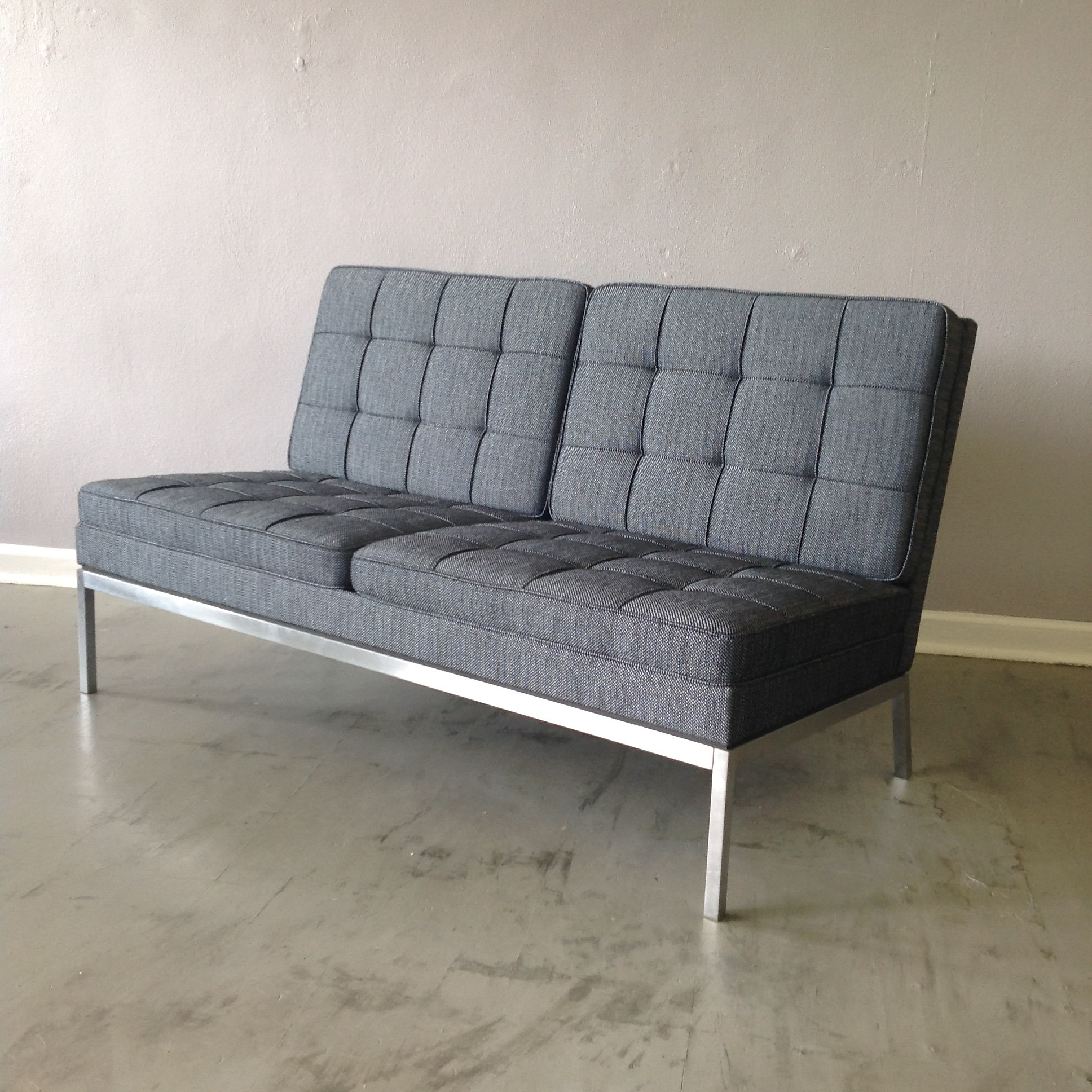 Florence Knoll Two Seat Armless Sofa  Mid Century Modern Furniture St Louis  Missouri Confluence. Modern Furniture St Louis Mo   penncoremedia com