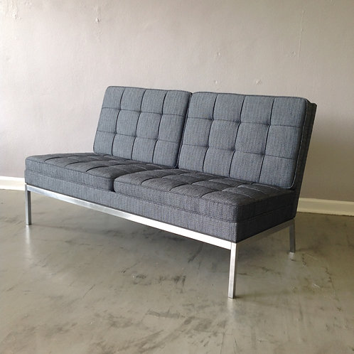 Florence Knoll Two Seat Armless Sofa