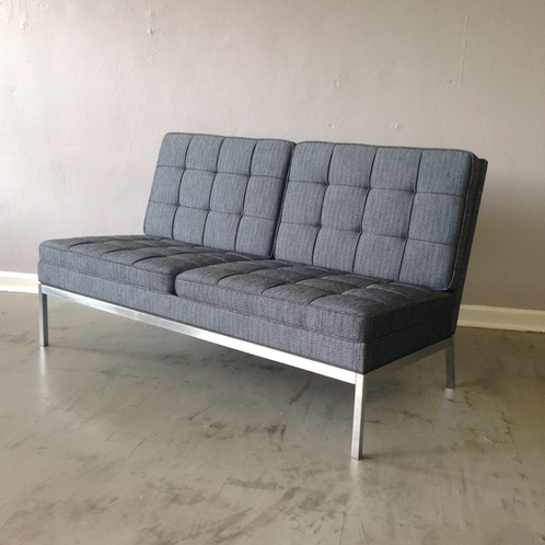 Florence Knoll Two Seat Armless Sofa ...