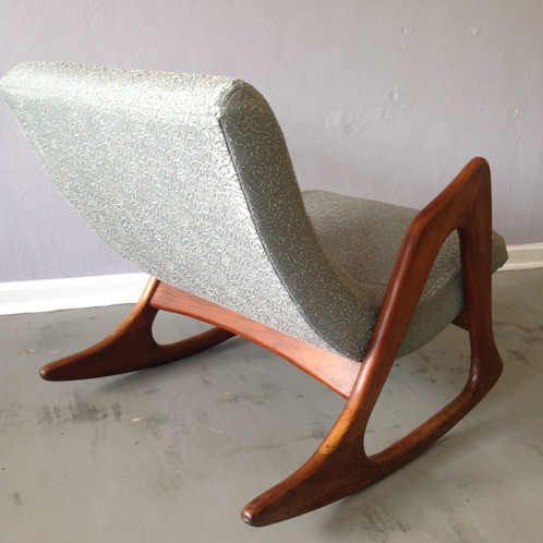 This Sculptural Rocking Chair And Ottoman Designed By Adrian Pearsall Is  Truly A Work Of Art. The Walnut Frame Has Been Freshly Oiled And The Body  Of The ...