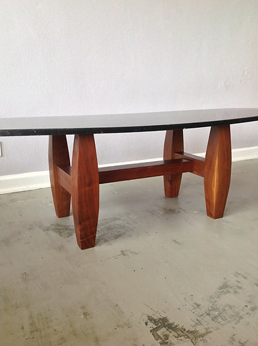 Slate Composite and Walnut  Surfboard Coffee Table