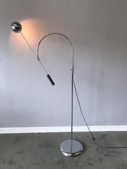 Sonneman orbiter chrome floor lamp large aloadofball Choice Image