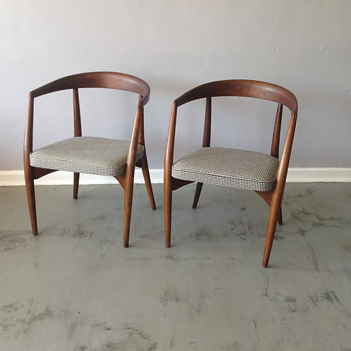 "Lawrence Peabody "" Library"" Chair Pair"