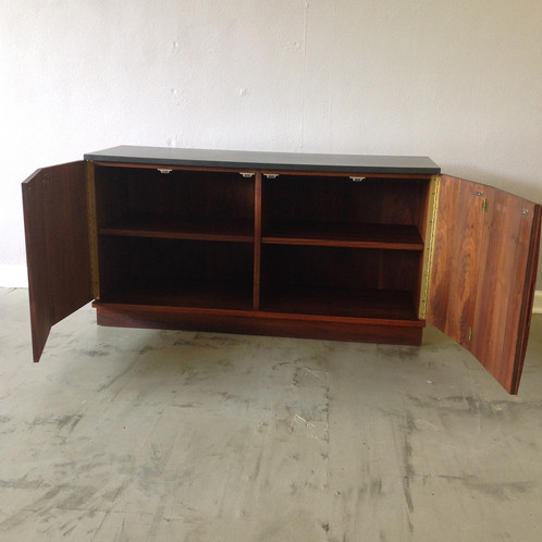 mid century modern server oiled walnut and slate server credenza mid century modern