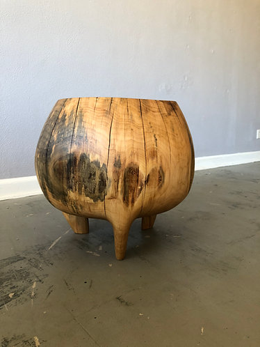 3 Legged Hard Maple Log Table