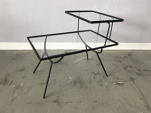 Frank and Sons Iron and Glass Step Side Table